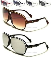 KHAN DESIGNER SUNGLASSES LARGE MENS LADIES FASHION PILOT BIG RETRO VINTAGE UV400