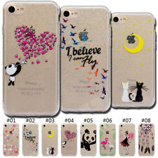 Protective Cover Rubber TPU Silicone Glitter Soft Back Case For Apple iPhone 7/8