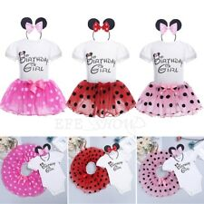 Baby Girls Birthday Girl Minnie Mouse Dress Kids Tutu Skirt Party Outfit Clothes