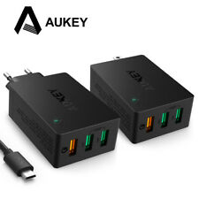 AUKEY USB Charger Quick Charge 3.0 3-Port Wall Phone Charger for Smartphones