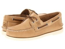NEW Mens SPERRY TOP-SIDER Oatmeal Brown White A/O AUTHENTIC ORIGINAL Boat Shoes