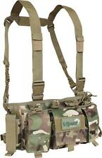Military Style Special Ops Chest Rig Army Combat Vest Pouch Airsoft Cadet Viper