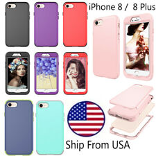 Slim Shockproof Ultra Hybrid Rubber Hard Case Cover Protective iPhone 8 / 8 Plus