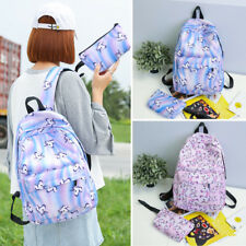 2pcs Cute Unicorn Women Backpack Handbag Rucksack Travel Bag Girls School Pack