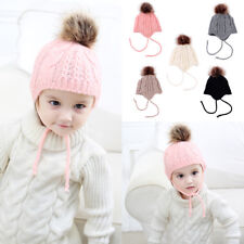 Winter Warm Baby Kids Girls Boys Knit Beanie Ear Flap Earflap Knitted Hat Cap
