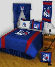 NHL Hockey New York Rangers Comforter AND Matching Bedroom Sheet Set ALL SIZES