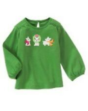 NWT Gymboree Girls Cheery All The Way Green Top Size 3-6-12-18-24M 2T 3T 4T