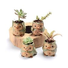 Ceramic Garden Planters Small Indoor Outdoor Flower Cactus Pots Penguin Shaped