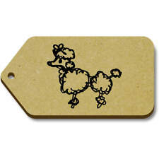 'Poodle' Gift / Luggage Tags (Pack of 10) (vTG0001201)