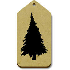 'Silhouetted Pine Tree' Gift / Luggage Tags (Pack of 10) (vTG0014908)