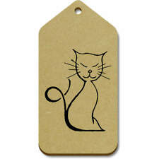 'Happy Cat' Gift / Luggage Tags (Pack of 10) (vTG0019243)