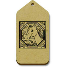 'Square Horse Motif' Gift / Luggage Tags (Pack of 10) (vTG0007220)