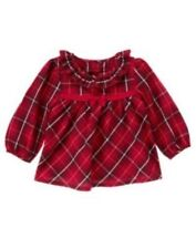 NWT Gymboree Girls Holiday Shop Plaid Top Size 3-6M