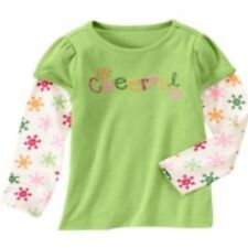 NWT Gymboree Girls Cheery All The Way Pink Cheerful Top Size 3 4 5 6