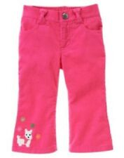 NWT Gymboree Girls Cheery All The Way Scottie Dog Corduroy Pants Size 3-6M