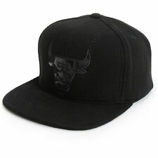 Mitchell & Ness NBA Chicago Bulls Team Logo Blacked Out Fitted Cap Hat