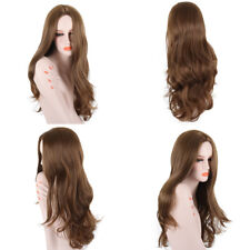 Fashion Long Body Wavy Wigs Middle Part Brown/Blonde Synthetic Wigs for Women
