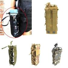 Adjustable MOLLE Tactical Water Bottle Pouch Bag Carrier Outdoor Camping Hiking