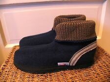 WESENJAK Boiled Wool Slippers DEEP MIDNIGHT BLUE Women and Men CHOOSE YOUR SIZE