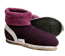 WESENJAK Boiled Wool Slippers WINE for Women and Men CHOOSE YOUR SIZE
