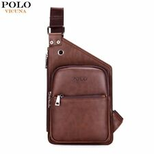PU LEATHER MEN CROSSBODY BAG RETRO ANTIQUE MENS SHOULDER MESSENGER BAGS V9901