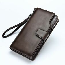 ID Credit Card Holder Billfold Leather Long Wallet Clutch Purse Casual Men I0133