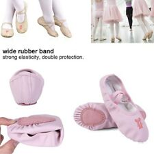 New Kids Girls Leather Soft Ballet Dance Shoes Slippers Split Sole Flat US Size