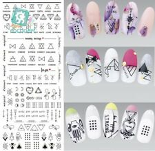 Nail Art Sticker Design Water Transfer Harajuku Line Tips Manicure Nail Decal