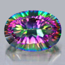 Collector's Jumbo Size Gem! Natural Rainbow Sparkling MYSTIC TOPAZ 25x18 MM Oval