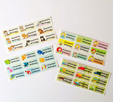 36 Colourful Fun-designed Children Personalised Stick On Name Labels Stickers