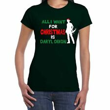 Womens Funny Slogans T Shirts-I Want Daryl Dixon For Christmas top gift for her