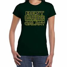 Womens Funny T Shirts-Best Daughter in Galaxy Star Wars Inspired-