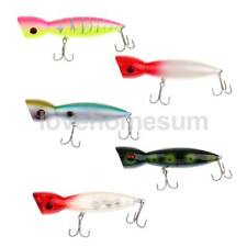 3D Eyes Popper Topwater Fishing Lure Crankbait Bass Baits Hook Tackle 140mm