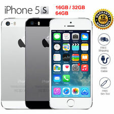 """Apple iPhone 5S/4S-16GB 32GB IOS """"Factory Unlocked"""" Smartphone Gold Gray Silver"""