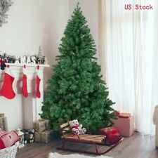 Artificial PVC Christmas Tree W/Stand Holiday Season Indoor Outdoor 4/5/6/7/8 Ft