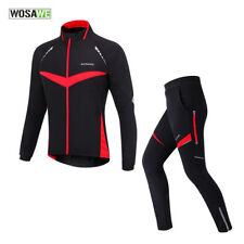 Fleece Cycling Suits Bicycle Set Thermal Jacket Windproof Cycling Coat Clothing