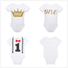 One Piece Toddler Baby Boy 1st Birthday Romper Bodysuit Jumpsuit Clothes Outfits
