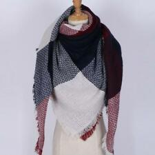 Women Winter Scarf Plaid Shawl Wrap Oversized Scarf Unisex Women Warm Scarves