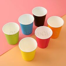 10pc Paper Cups Xmas Wedding Birthday Party Picnic Event Tableware Biodegradable