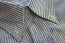 NWOT Brooks Brothers Blue University Stripe Oxford Cloth Button Down Extra Slim