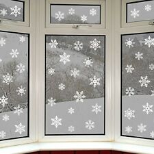 Snowflake Window Clings Quickly Decorate re-Positioned Easily Taken Down Ne