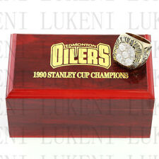 Year 1990 EDMONTON OILERS Stanley Cup Championship Solid Ring 10-13Size