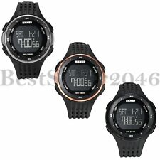 Mens Waterproof Watches Date LED Digital Sports Electronic Military Wrist Watch