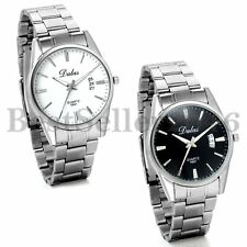 Fashion Men's Luxury Date Stainless Steel Band Quartz Analog Sports Wrist Watch