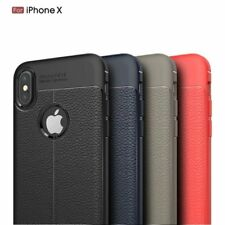 Slim Luxury Leather Back Ultra Thin TPU Case Cover for iPhone 10 X & 8/7/6s Plus