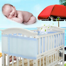 Breathable Infant Mesh Bumper Crib Liner Baby Bedding Washable Protection Pad
