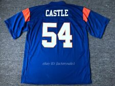 Thad Castle #54 Football Jersey Blue Mountain State Goats Movie Stitched Blue