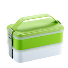 Large 2 Tier Japanese Bento Lunch Box with Handle Food Container Picnic Storage