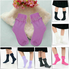 3 Pairs of Girls & Ladies Lovely Coloured Frilly Lace Ankle Socks Christmas Gift