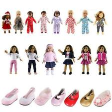 Clothes for 18'' American Girl Doll Our Generation Pajamas Shoes Outfits Dress